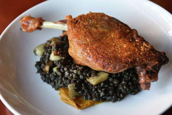 New York Duck Confit, lentils, parsnips, spiced butternut at The Lantern Bar & Grill on Tuesday, Oct. 15, 2019 in Pittsfield, Mass. (Lori Van Buren/Times Union)