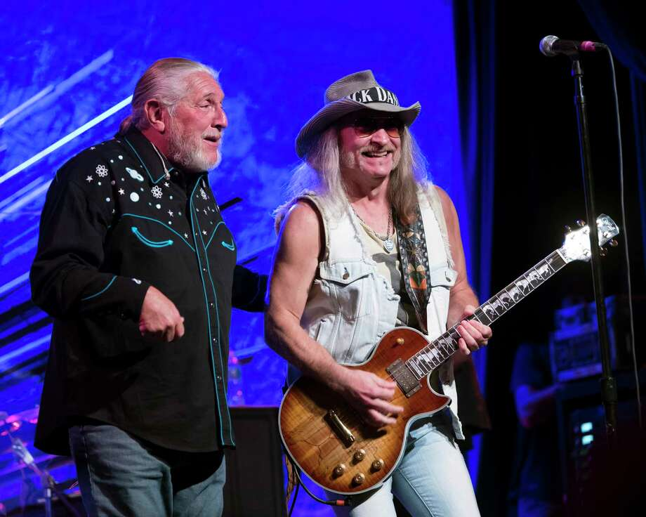 Doug Gray, left, and Chris Hicks, of the Marshall Tucker Band, perform in August in New York City. The Southern-rock pioneers are in the midst of a fall tour that stops at Stamford's Palace Theatre with special guests The Outlaws on November 1. Photo: Debra L Rothenberg / Getty Images / 2019 Debra L Rothenberg