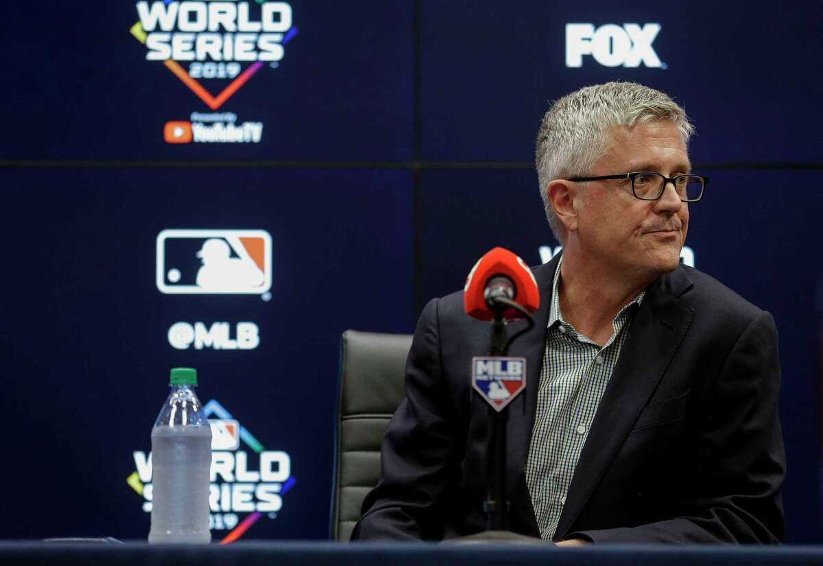 Astros general manager Jeff Luhnow said he had looked at the team's original statement that incorrectly accused Sports Illustrated of fabricating a story.