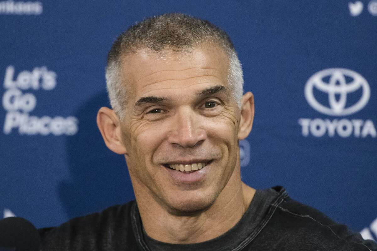 FILE - In this Feb. 14, 2017, file photo, New York Yankees manager Joe Girardi speaks with members of the media during a news conference at the team's baseball spring training facilities, in Tampa, Fla. Person familiar with deal tells AP the Philadelphia Phillies are hiring Girardi as manager, Thursday, Oct. 24, 2019. (AP Photo/Matt Rourke, File)