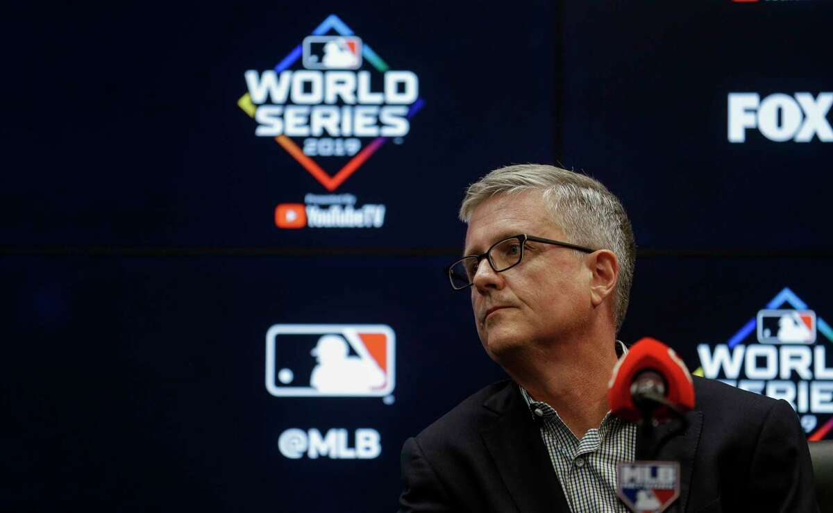 Jeff Luhnow's 18-minute news conference included an apology to Sports Illustrated but left some questions unanswered about Brandon Taubman's firing and the events leading up to ti.