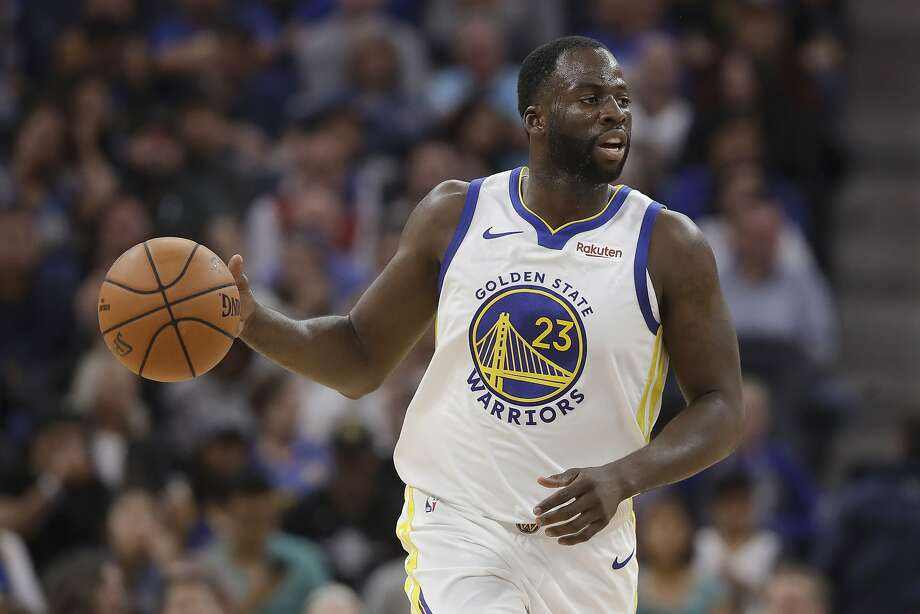 FILE - In this Oct. 5, 2019, file photo, Golden State Warriors forward Draymond Green dribbles against the Los Angeles Lakers during the first half of a preseason NBA basketball game in San Francisco. Photo: Jeff Chiu / Associated Press