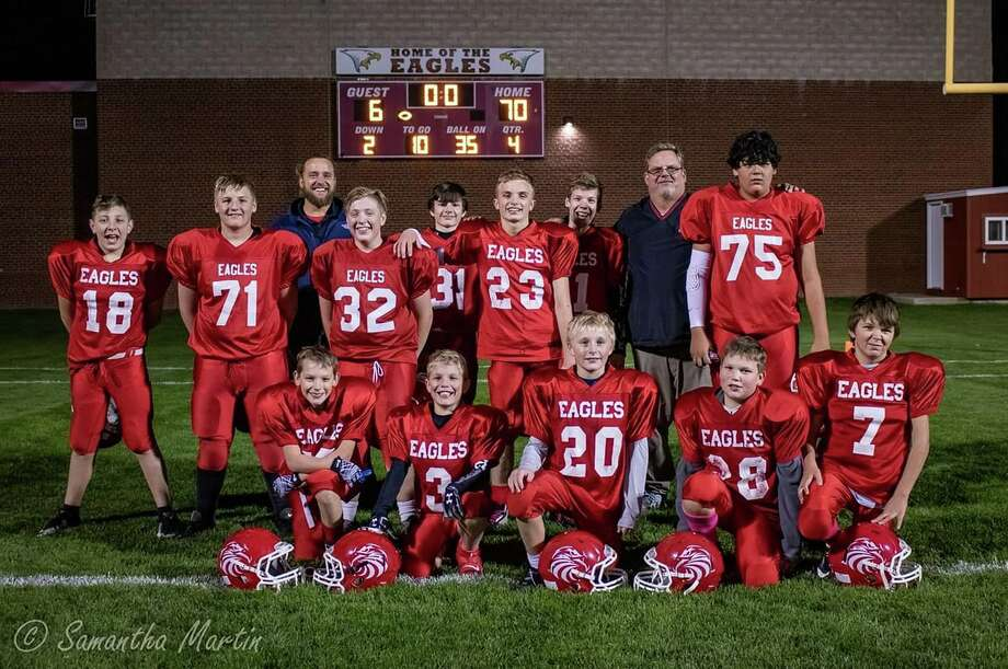 The Caseville Junior High football team went a perfect 6-0 in 2019. Photo: Contributed/Samantha Martin