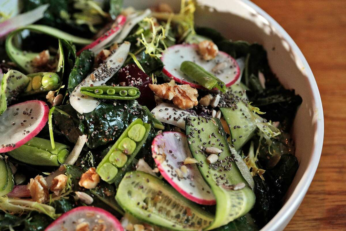 The Reset Salad served at Wildseed in San Francisco, Calif., on Tuesday, October 22, 2019. The new restaurant on Union Street serves a new plant-based/vegan menu.