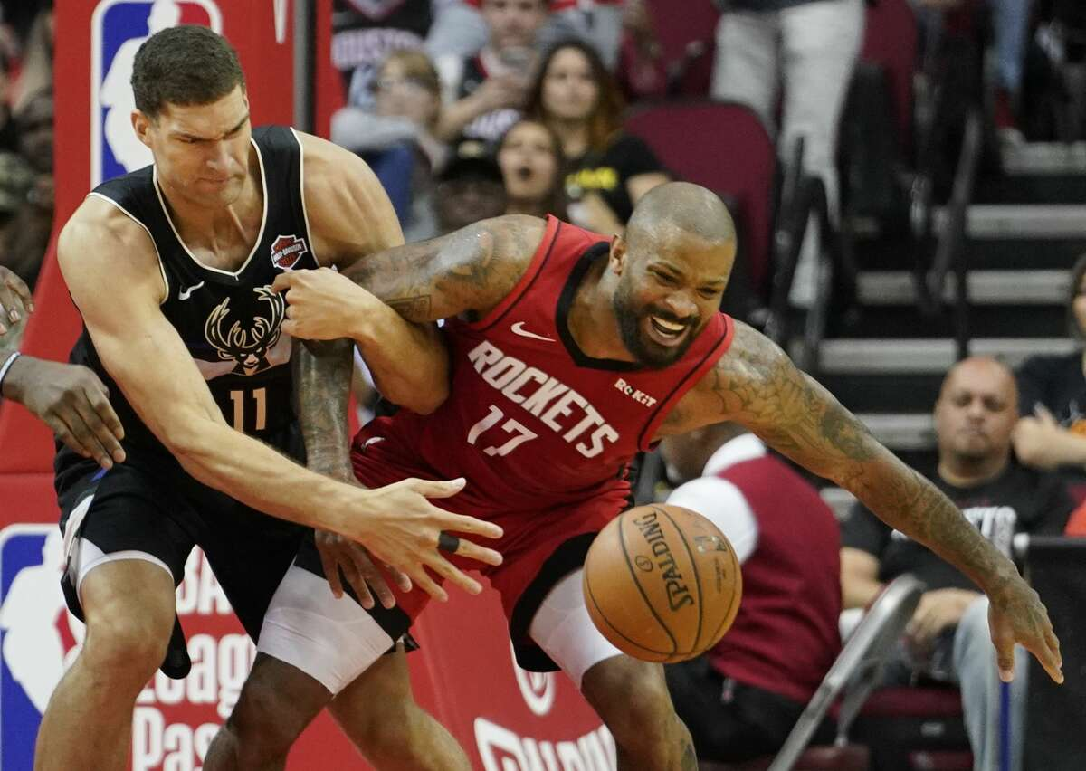 Asking the undersized yet feisty P.J. Tucker to battle it out as the Rockets' center through four playoff rounds is probably too much.