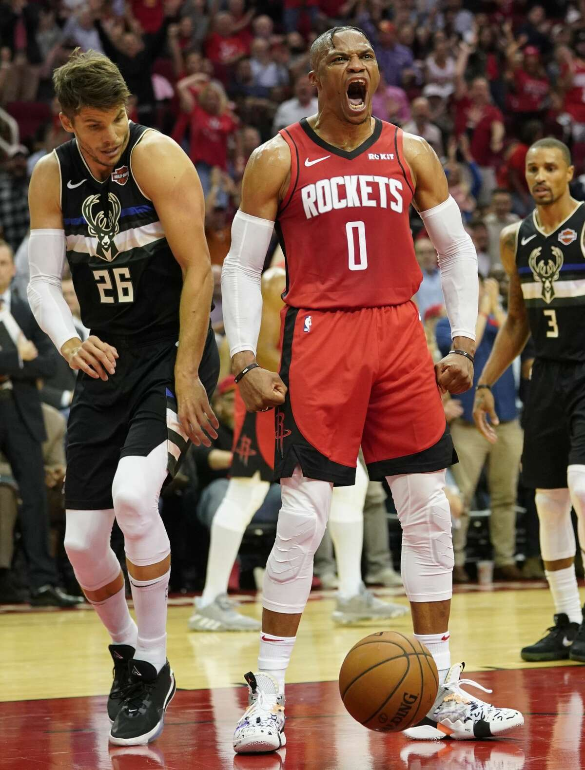 Oct. 24: Bucks 117, Rockets 111 Point leaders Rockets: Russell Westbrook (24) Bucks: Giannis Antetokounmpo (30) Record: 0-1