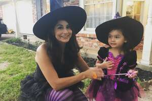 KSAT-12 weekend anchor Stephanie Serna with her daughter Rooney as witches in 2016.