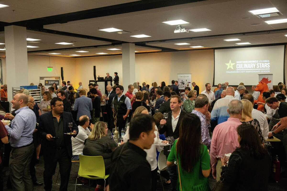 Guests attend the 2019 Culinary Stars event at the Houston Chronicle where Alison Cook's Top 100 Restaurants in Houston was announced.