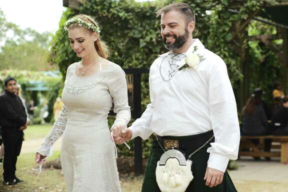 Scenes from the Maturo-Bradley wedding at the Texas Renaissance Festival on Saturday, Oct. 12, 2019