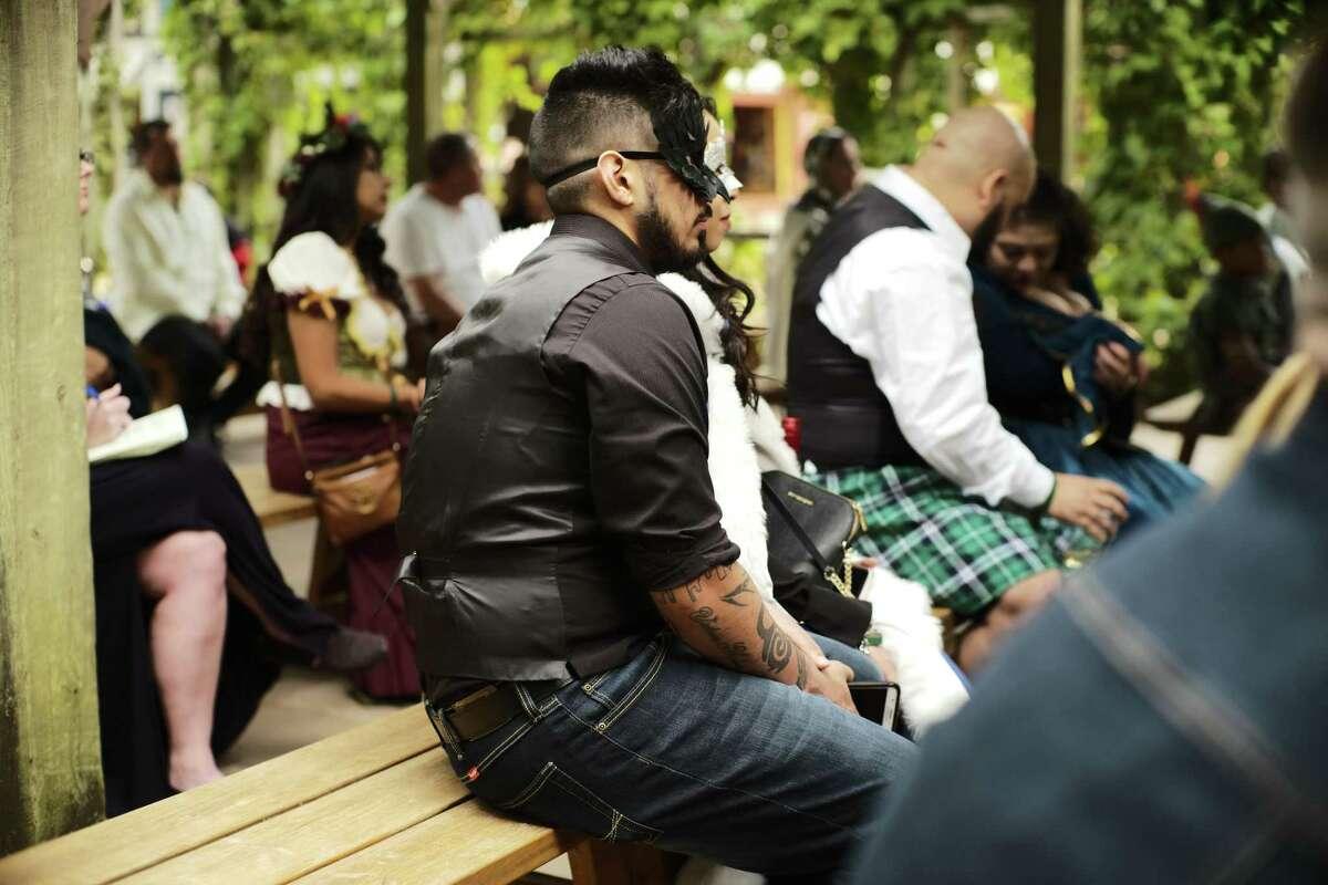 Scenes from the Maturo-Bradley wedding at the Texas Renaissance Festival on Saturday, Oct. 12, 2019