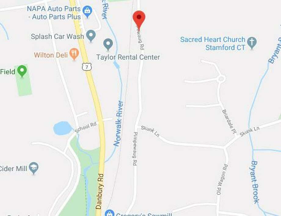 A portion of Pimpewaug Road in Wilton will be closed on Wednesday, Oct. 30, 2019. Photo: Contributed Photo / Wilton Bulletin Contributed