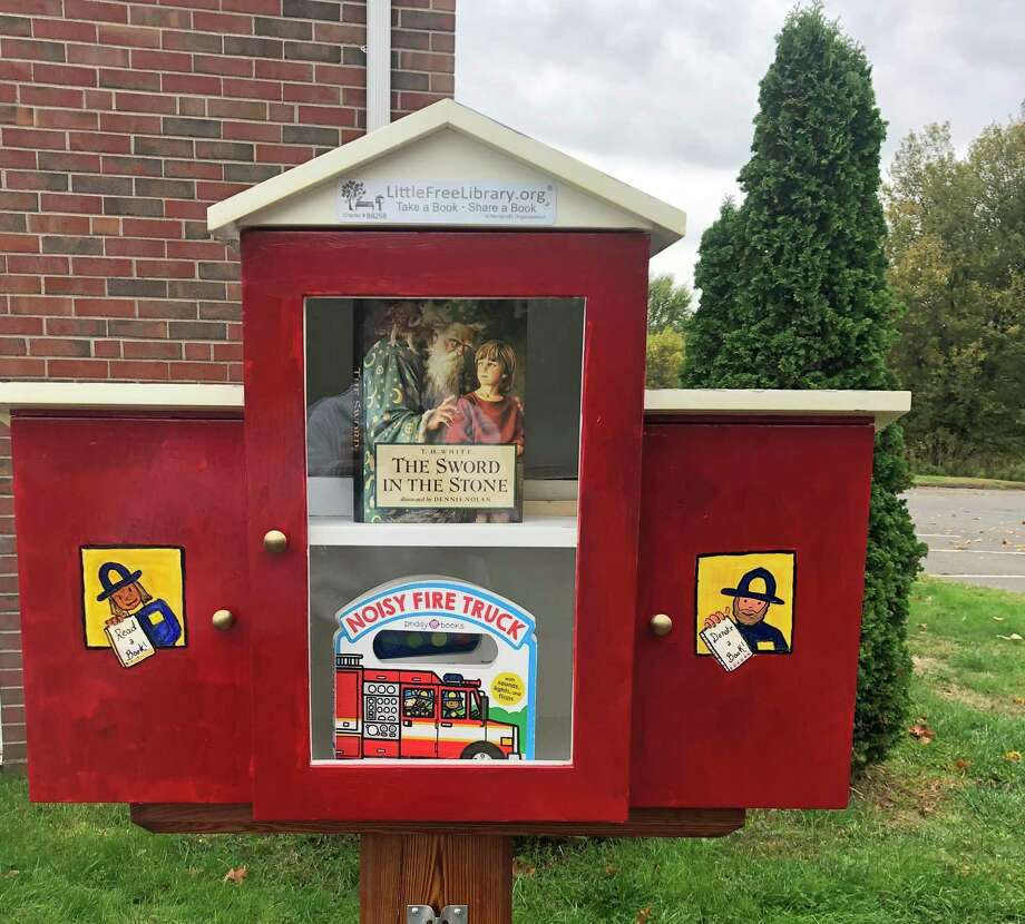 The South Fire District's new Little Free Library was donated by Marcia Graves. Photo: Contributed Photo