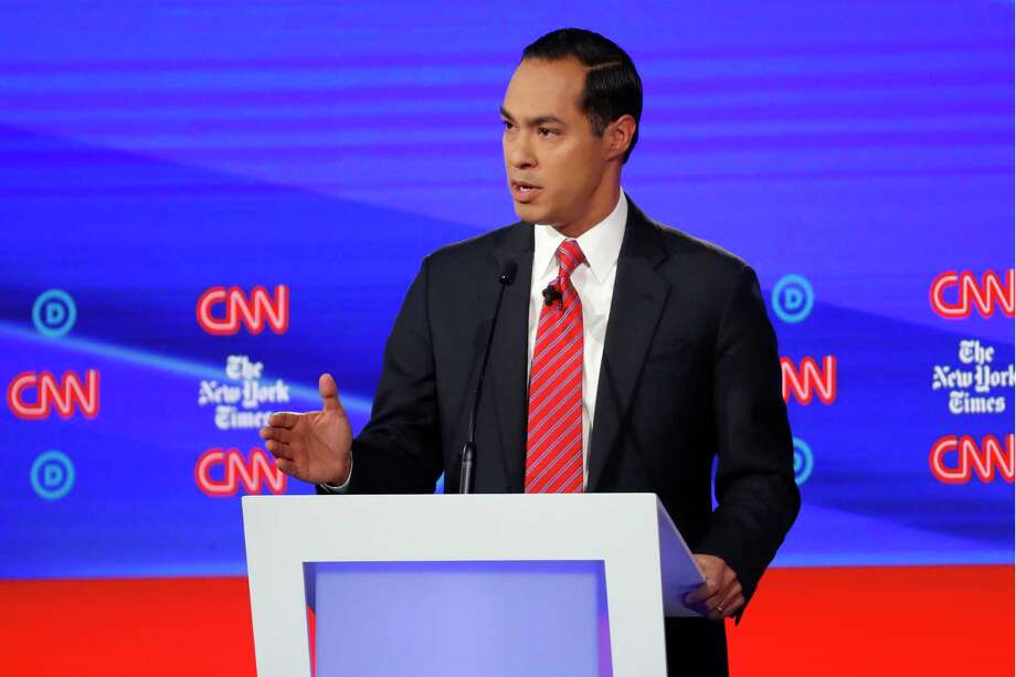 Democratic presidential candidate and former Housing Secretary Julian Castro said he would discontinue his campaign if he doesn't raise $800,000 in 10 days. Photo: John Minchillo, STF / Associated Press / Copyright 2019 The Associated Press. All rights reserved