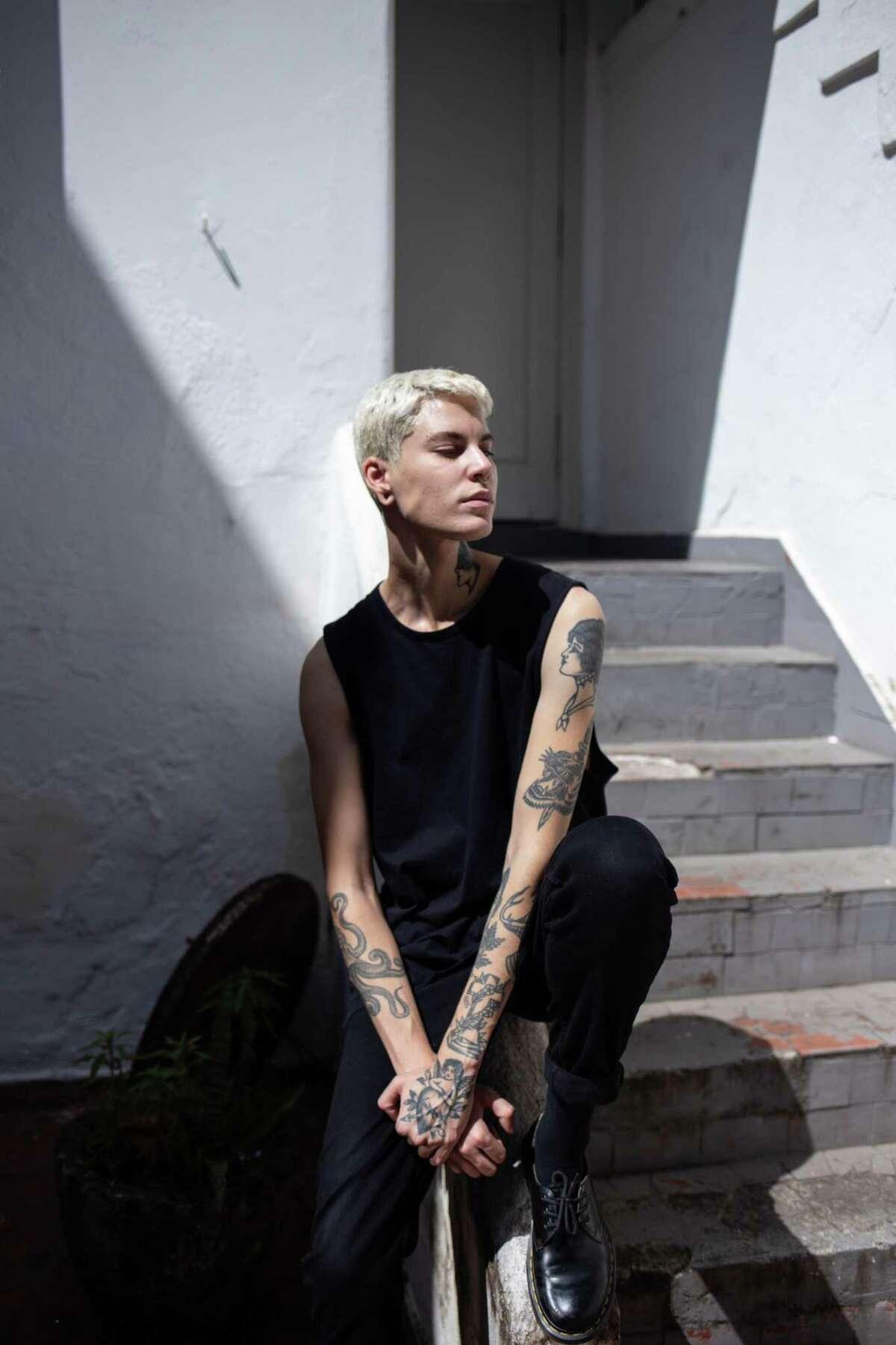 Sam Porto, 25, a transgender model from Brasilia.