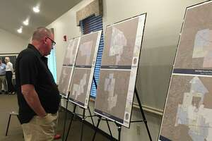 People attending the Oct. 23 town hall meeting of the West Harris County Regional Water Authority could check out maps displayed at theFry Road Municipal Utility District Administration Building.