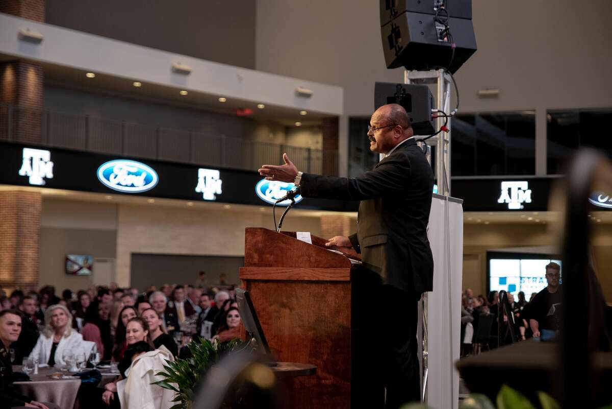 Eli Jones, dean of Mays Business School at Texas A&M University, at a previous Aggie 100 awards ceremony.