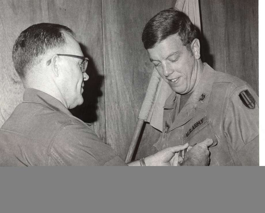 Rich Kinder received a recognition during his military service. Photo: Courtesy Of Kinder Foundation