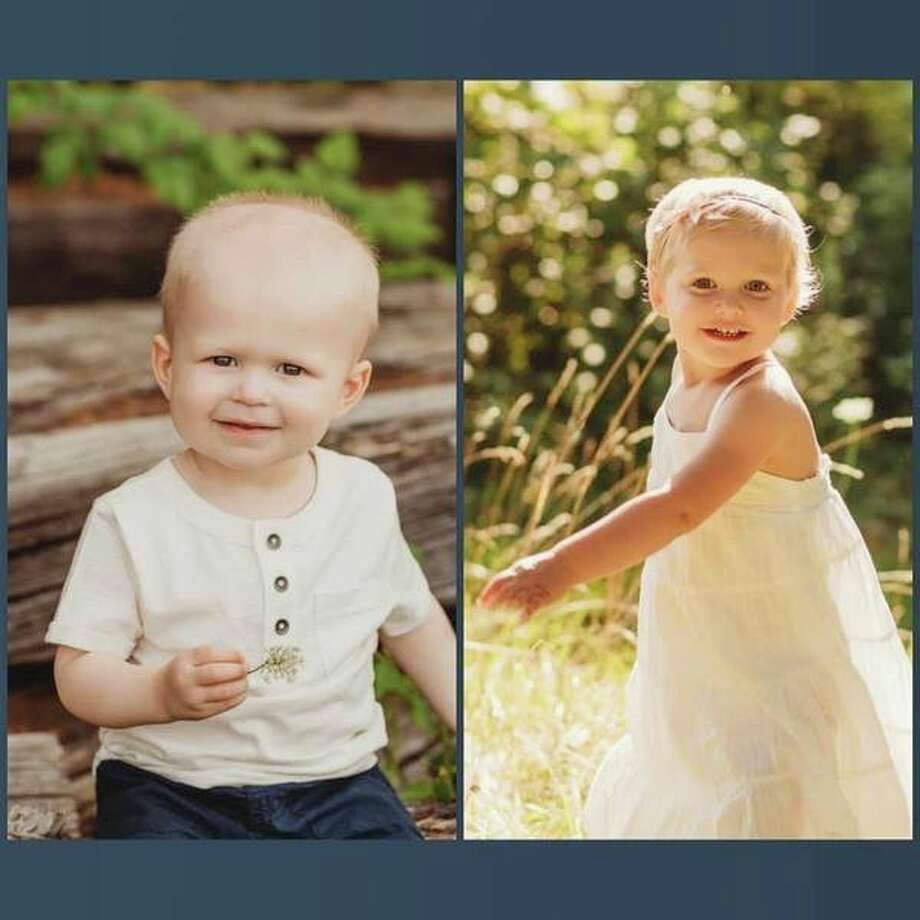 Nicky Stalder and Blakely Lindemulder are both 2 years old, and they have been diagnosed with acute lymphoblastic leukemia. (Photo provided)