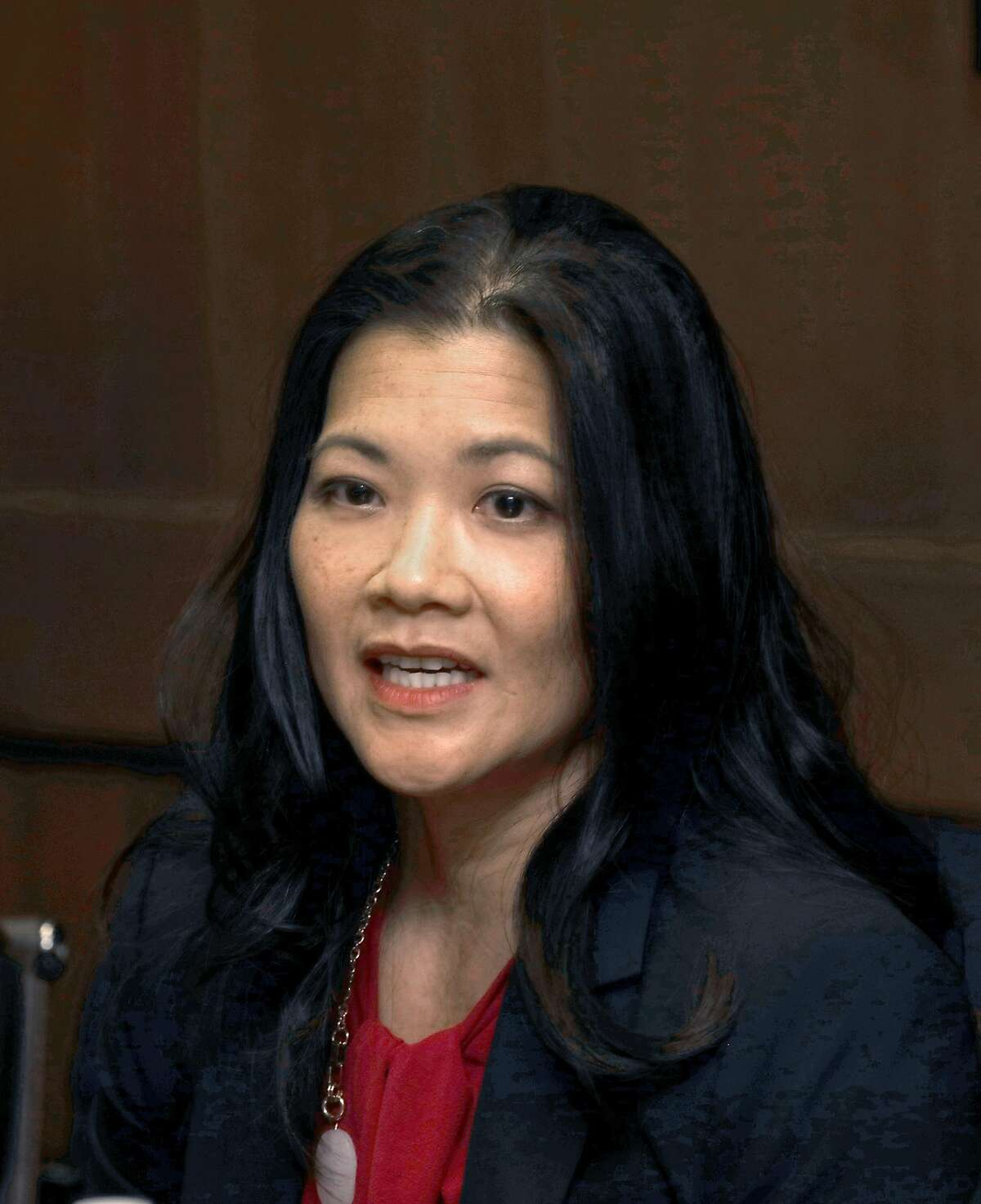 Candidate for district attorney Nancy Tung comes to an editorial board meeting at the San Francisco Chronicle on Wednesday, September 25, 2019, in San Francisco, Calif.
