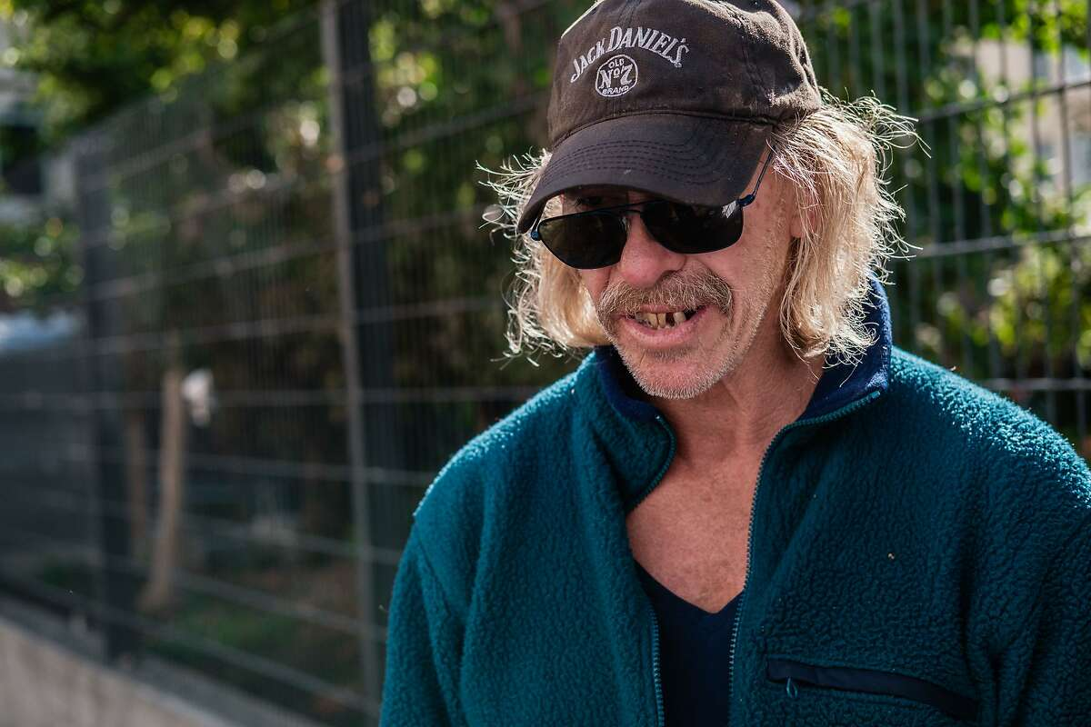 Michael Weese, who is homeless and struggles with meth addiction is seen on the street in San Francisco, Calif. on Thursday, October 17, 2019.