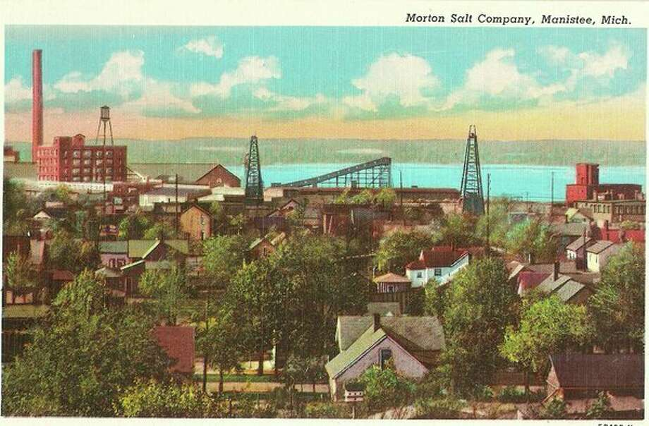 The Morton Salt factory is shown in this 1930s photo from above Vine Street hill.