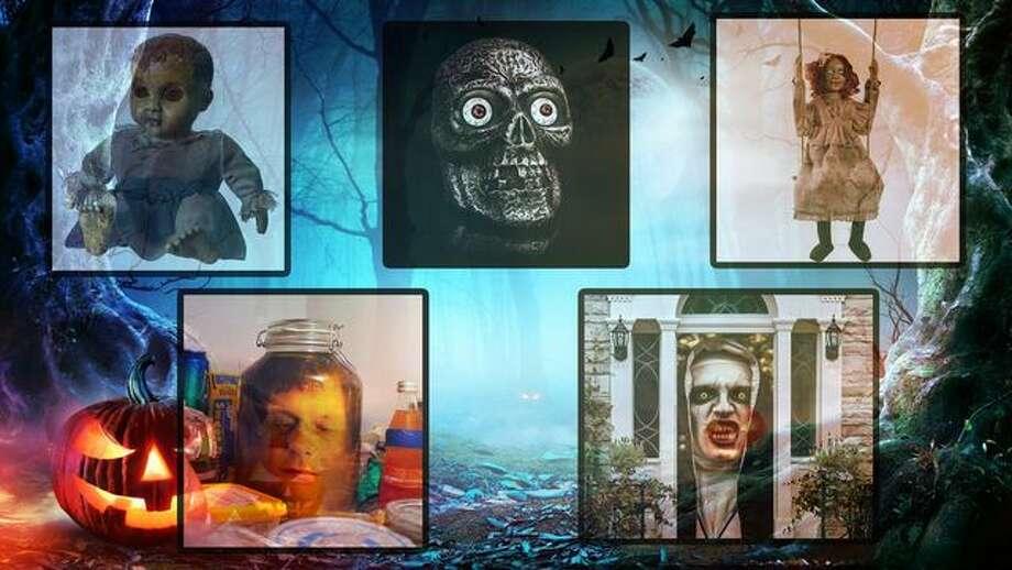 Creepy Halloween decorating ideas. Photo: IStock; Amazon.com; Realtor.com
