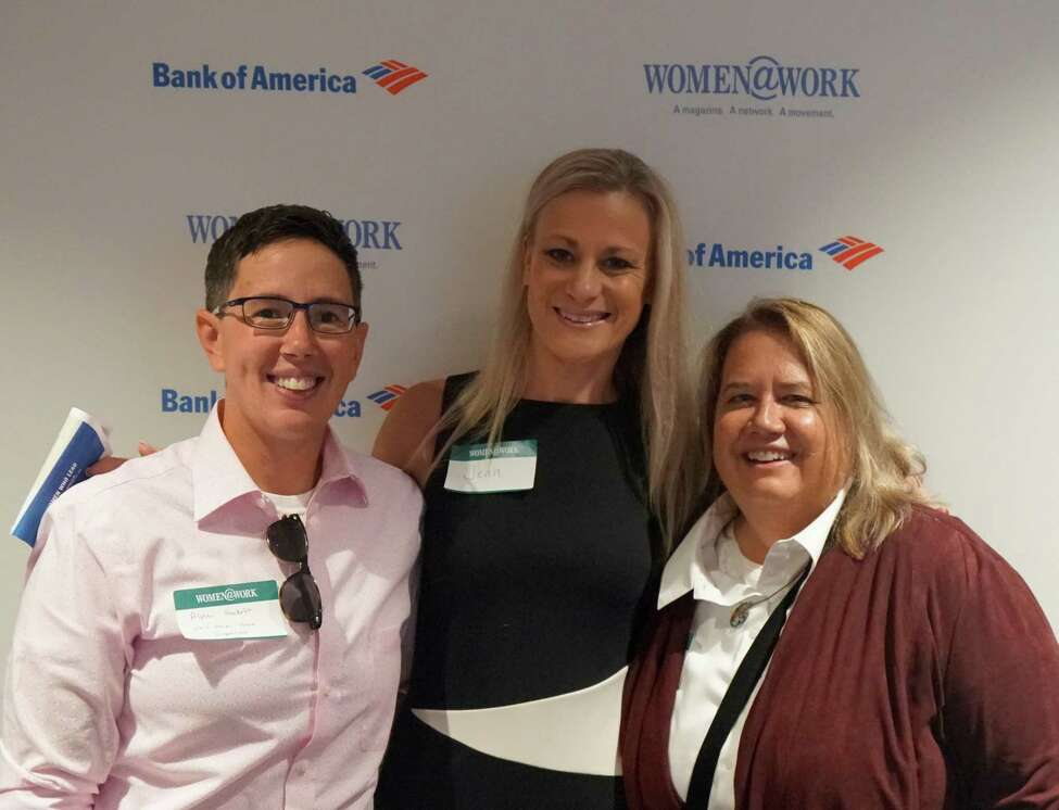 Attendees from the Sept. 11, 2019 Women@Work breakfast featuring Heidi Knoblauch, owner of Plumb Oyster Bar and founder of Receipt HQ. (Photo by Susan Mehalick)
