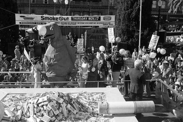 The Great American Smoke Out, held at Union Square, organized by the American Cancer Society, November 16, 1977