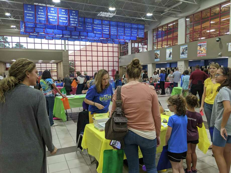 Conroe ISD hosted a Dyslexia Information night on Oct. 24 to show parents how the new program works for their students. Tables were set up at Oak Ridge High School for each of the components of the program. Photo: Jamie Swinnerton