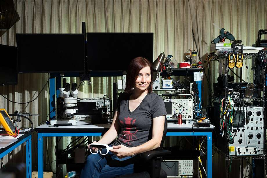 Jeri Ellsworth, who started as a self-taught computer hacker and chip designer, runs gaming company Tilt Five in San Jose. Photo: James Tensuan / New York Times
