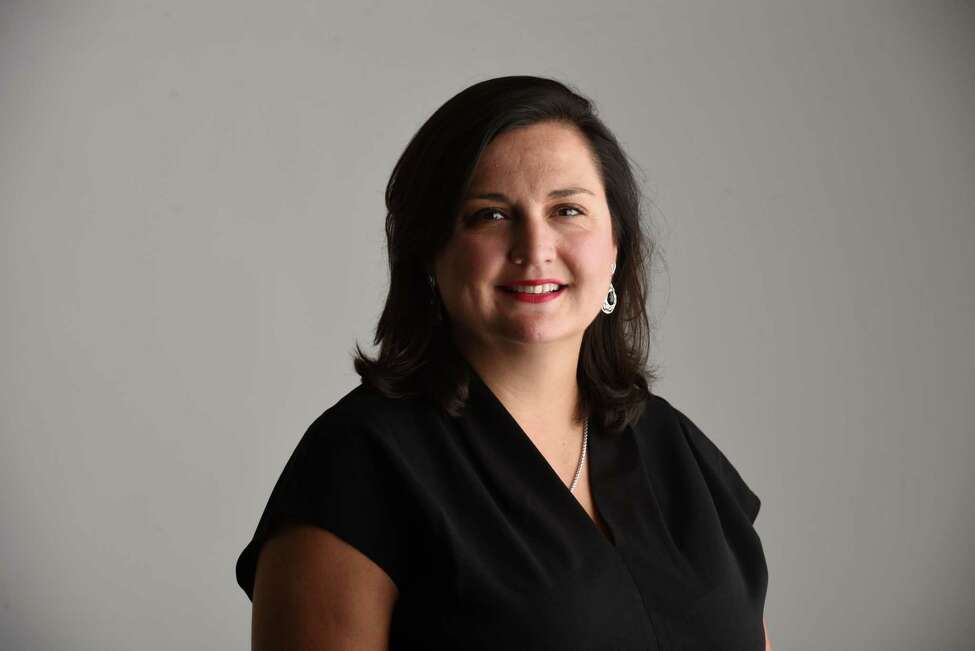 Attorney Sarah Burger, founding member of Burger Law Group LLC, is pictured in the Times Union studio on Wednesday, Sept. 25, 2019, in Colonie, N.Y. (Will Waldron/Times Union)