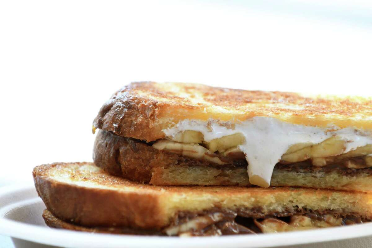 Nutella & Banana; Nutella, banana, from vegetarian house-made fluff made brioche bread is served at Bard & Baker on Tuesday, March 12, 2019, in Troy, N.Y. The board game cafe is located in the former Troy Record building. (Will Waldron/Times Union)