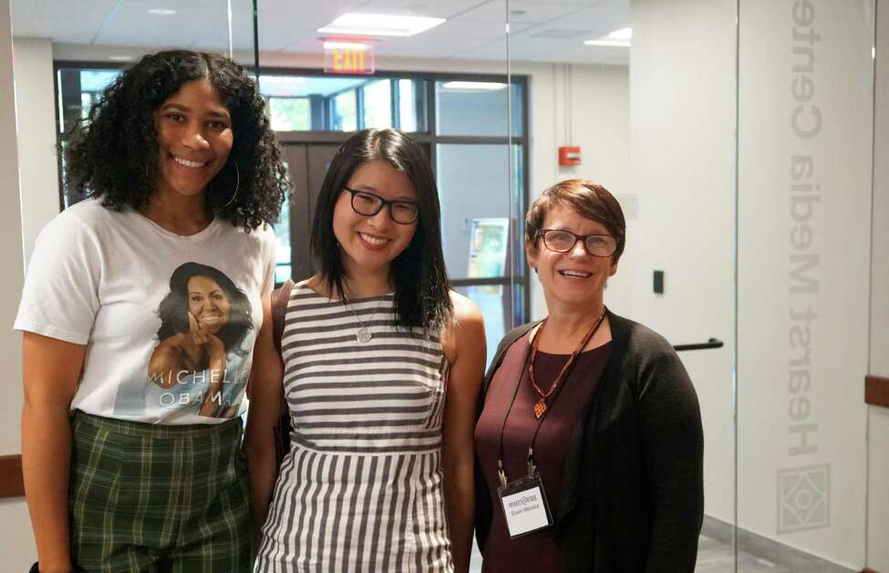 Women@Work held a Wellness for Women event on Tuesday, Sept. 17, 2019 at the Times Union's Hearst Media Center in Colonie, N.Y. The featured panelists were University at Albany Assistant Professor of Psychology Ho Kwan Cheung, and Edi Pasalis, director of RISE Programming at Kripalu Center for Yoga and Health. Susan Mehalick from Women@Work moderated. Event sponsors were Ellis Medicine and MVP Health Care.