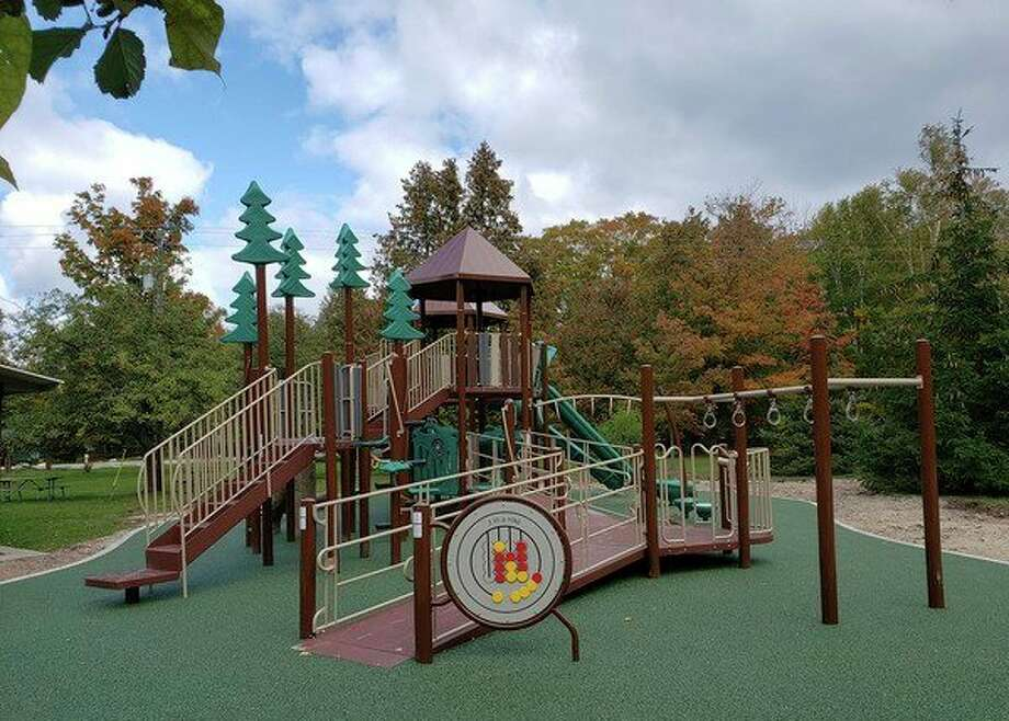 A ribbon cutting will be held on Tuesday at 11 a.m. for Leelanau State Park's new accessible playground. (Courtesy photo)