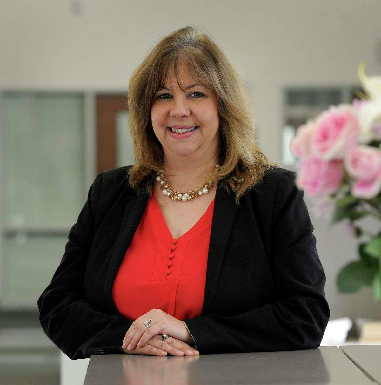Lorrie Rodrigue, New town schools superintendent.