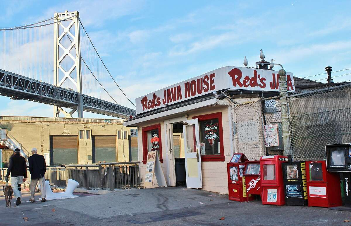 Red s Java House Pier 30: Perched on a pier offering dramatic views of the Bay Bridge, Red s Java House remains the beloved, scrappy diner that ginger-haired brothers Tom Red McGarvey and Mike McGarvey purchased and renamed in 1955. Since sold, it serves up double cheeseburgers, hot dogs and on weekends, corned beef and hash. (415) 777-5626, www.redsjavahouse.com.