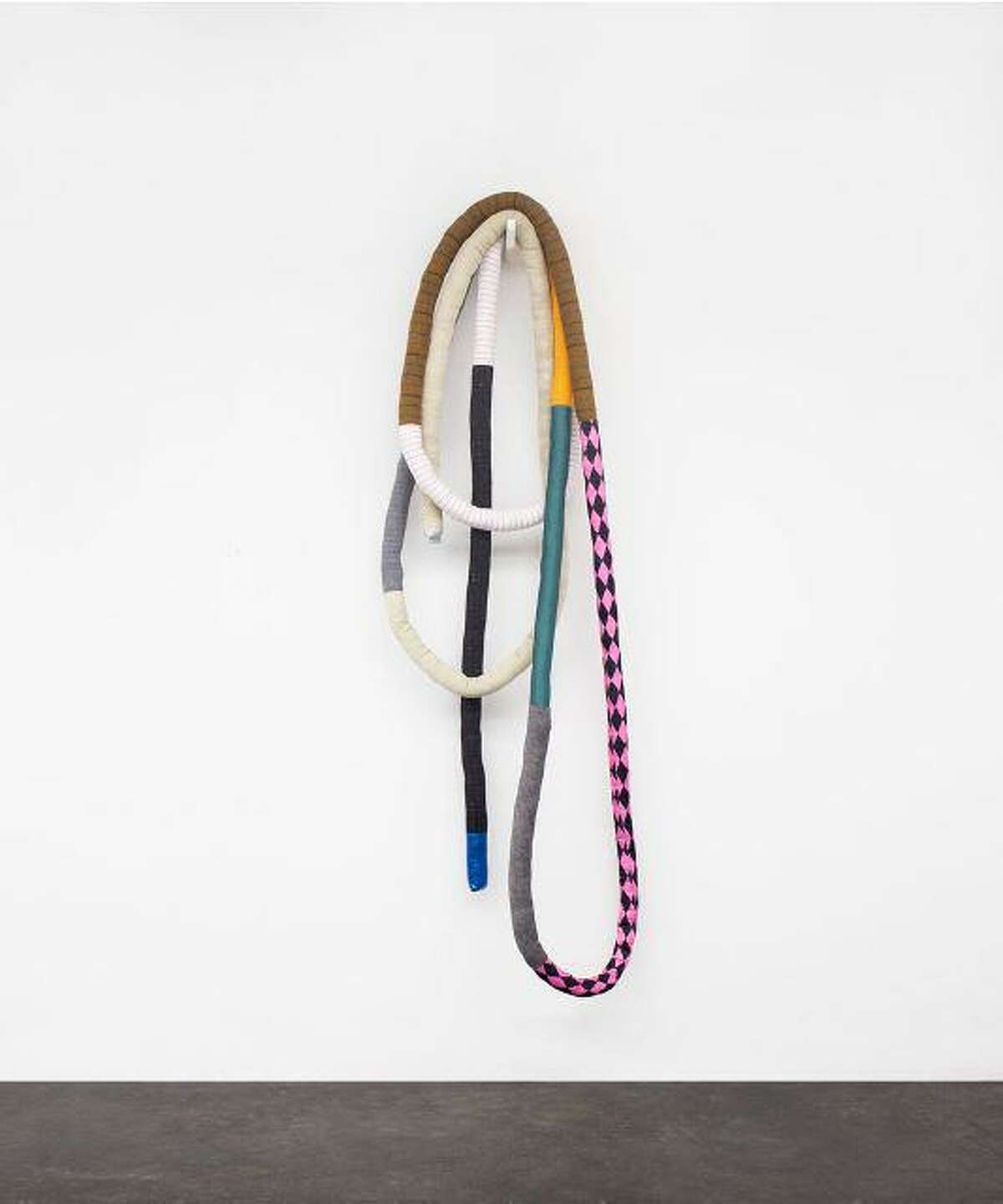 """""""A WORLD AWAY, State of Limbo"""" is on view in Neil Fortune's show """"Colorful ribs and guts of Adam,"""" at Gray Contemporary through Nov. 30."""