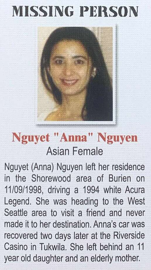 """Nguyet """"Anna"""" Nguyen was last seen on Nov. 9, 1998 when she left home to visit with her fiance. She was 28 years old at the time. On Oct. 25, 2019, an ex-boyfriend was arrested for her murder. Photo: Courtesy King County Sheriff's Office"""