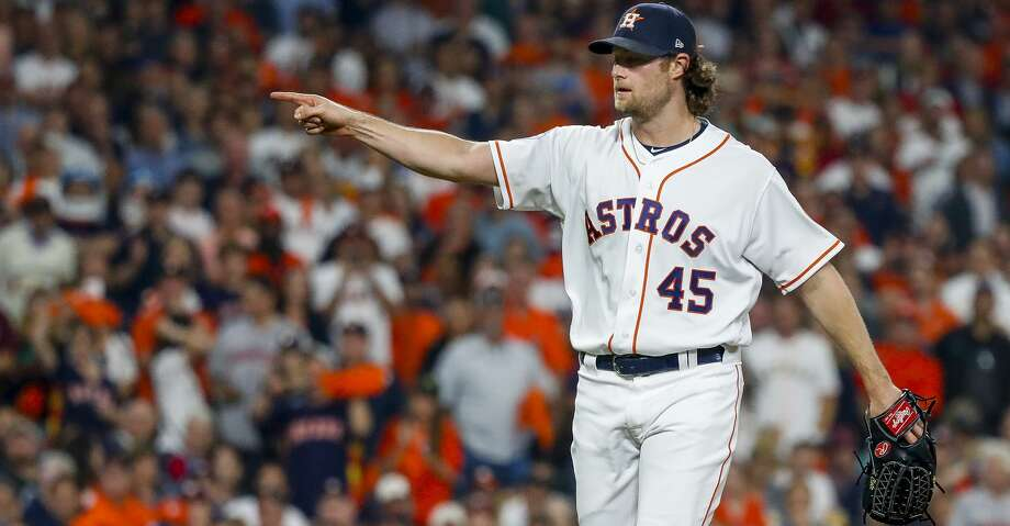 Gerrit Cole will be heading to the Yankees, the team the Astros beat in the ALCS, for a nine-year, $324 million contract. Photo: Karen Warren/Staff Photographer