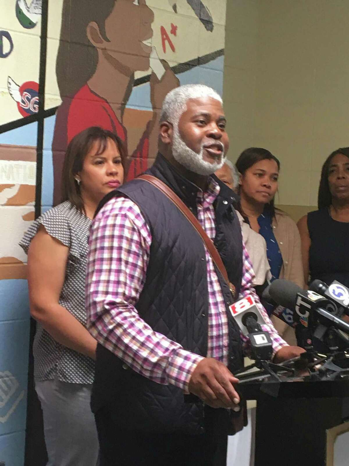 The Boys and Girls Club of New Haven will remain open and will continue to serve hundreds of city boys and girls as a result of a deal roughed-out this week, Mayor Toni Harp announced Friday afternoon. Here, Hill-area AlderRon Hurt, D-3, speaks.