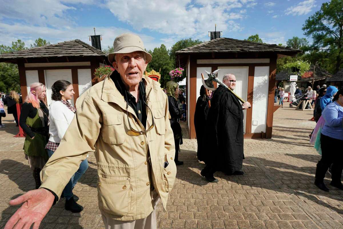George Coulam, founder of the Texas Renaissance Festival, talks during a tour of the grounds Saturday, Oct. 12, 2019, in Todd Mission.