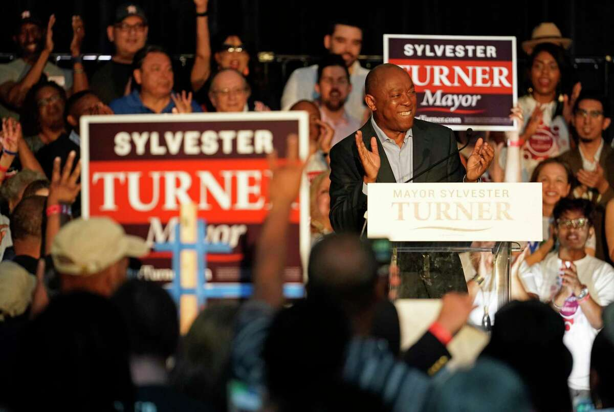 Houston mayor Sylvester Turner speaks during his kick off mayoral re-election campaign event held at Union Station in Minute Maid Park Saturday, March 30, 2019, in Houston.