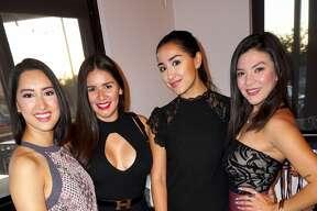 Jessica Porras, Audra Vega,Andrea Tostado and Alexy Gallegos at Rocha's Bar & Grill