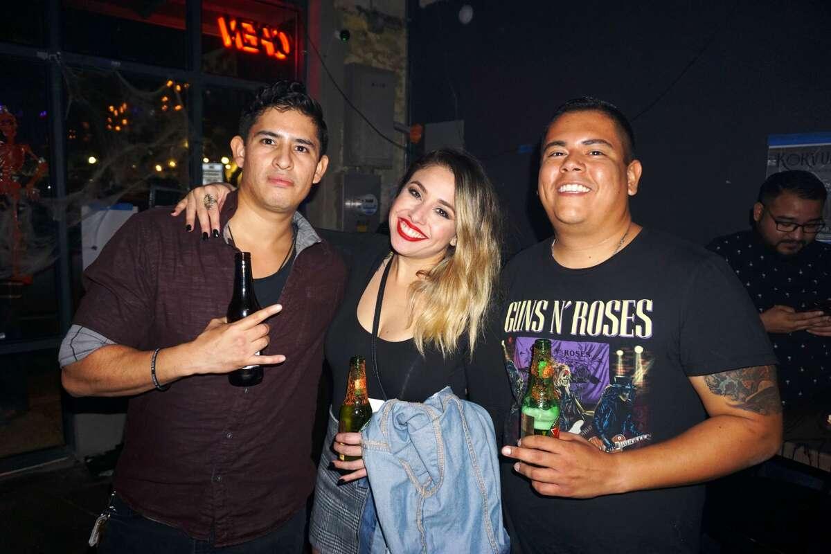 Tony Perez, Maura Brizuela and Rick Ramirez at The Cold Brew Rock Bar