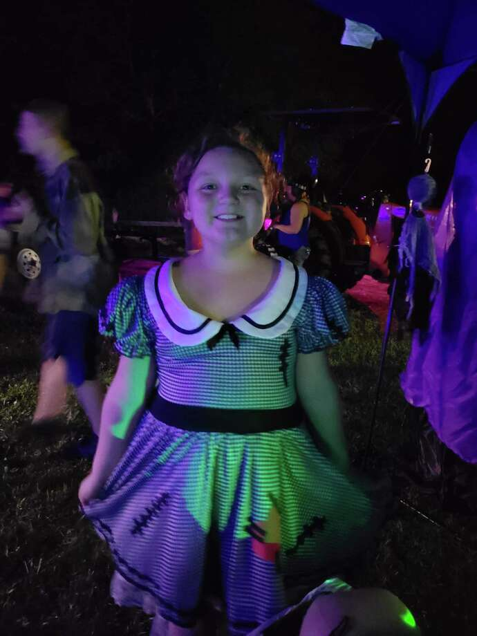 A young trick-or-treater turns out for a hayride in a community hayride in Vidor. Photo: Courtesy Photo