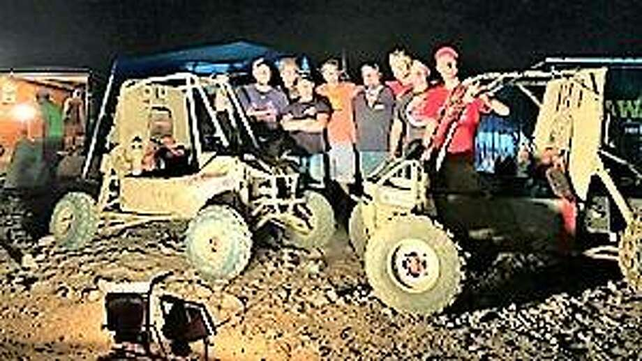 SIUE School of Engineering students David Gipson, Charles O'Donnell, Christian Gorden, Tim Kroger, Sean Dennert, Gabe Reeser, Jon Smyk, and Dave Beck participated in the University of Louisville's Midnight Mayhem Baja SAE race.