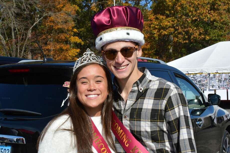 St. Joseph and Ridgefield high schools faced off on the football field October 26, 2019 during St. Joseph's homecoming game. Were you SEEN? Photo: Vic Eng / Hearst Connecticut Media Group