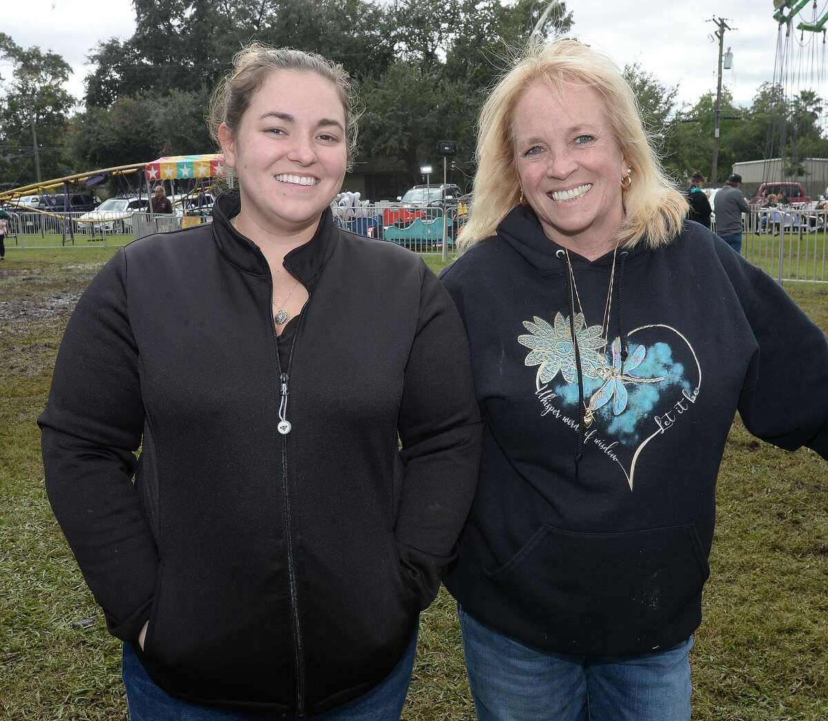 Kaitlyn Wolfe and Marti Smith were at the Pecan Festival Saturday in Groves. Photo taken Saturday, October 26, 2019 Kim Brent/The Enterprise