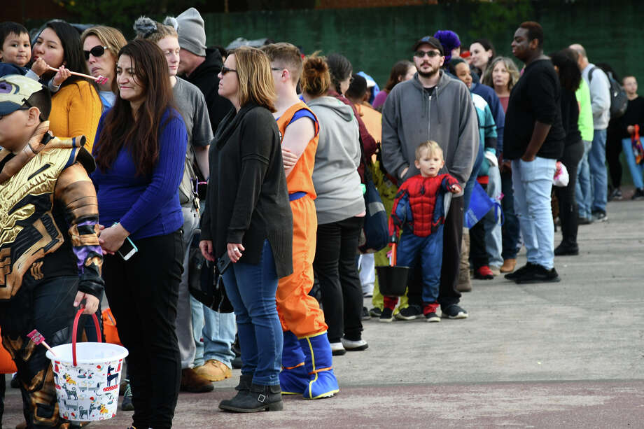 The 2019 Torrington Trunk Or Treat was held at Fuessenich Parking lot  on October 26, 2019. Hundreds of guests  and children in costumes, lined up to be treated by creative and fun trunks, decorated for Halloween. It was sponsored by The City of Torrington as well as other businesses and organizations. Photo: Lara Green- Kazlauskas/ Hearst Media