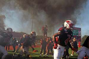 UIW football team enter the field for game against NW State on Saturday, October 26, 2019 at University of Incarnate Word.